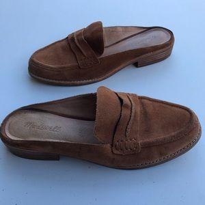 Madewell elinor English saddle penny loafer mule